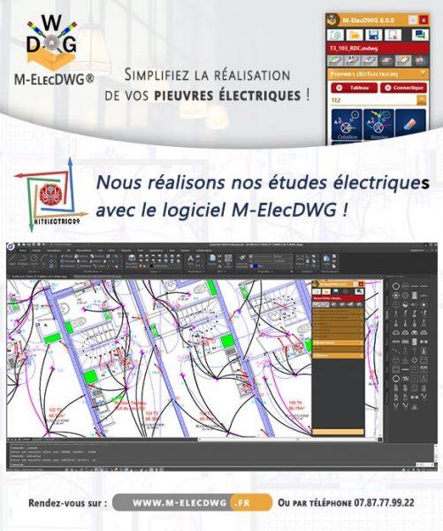 Logiciel M-ElecDWG pour faire des plans de pieuvres electriques